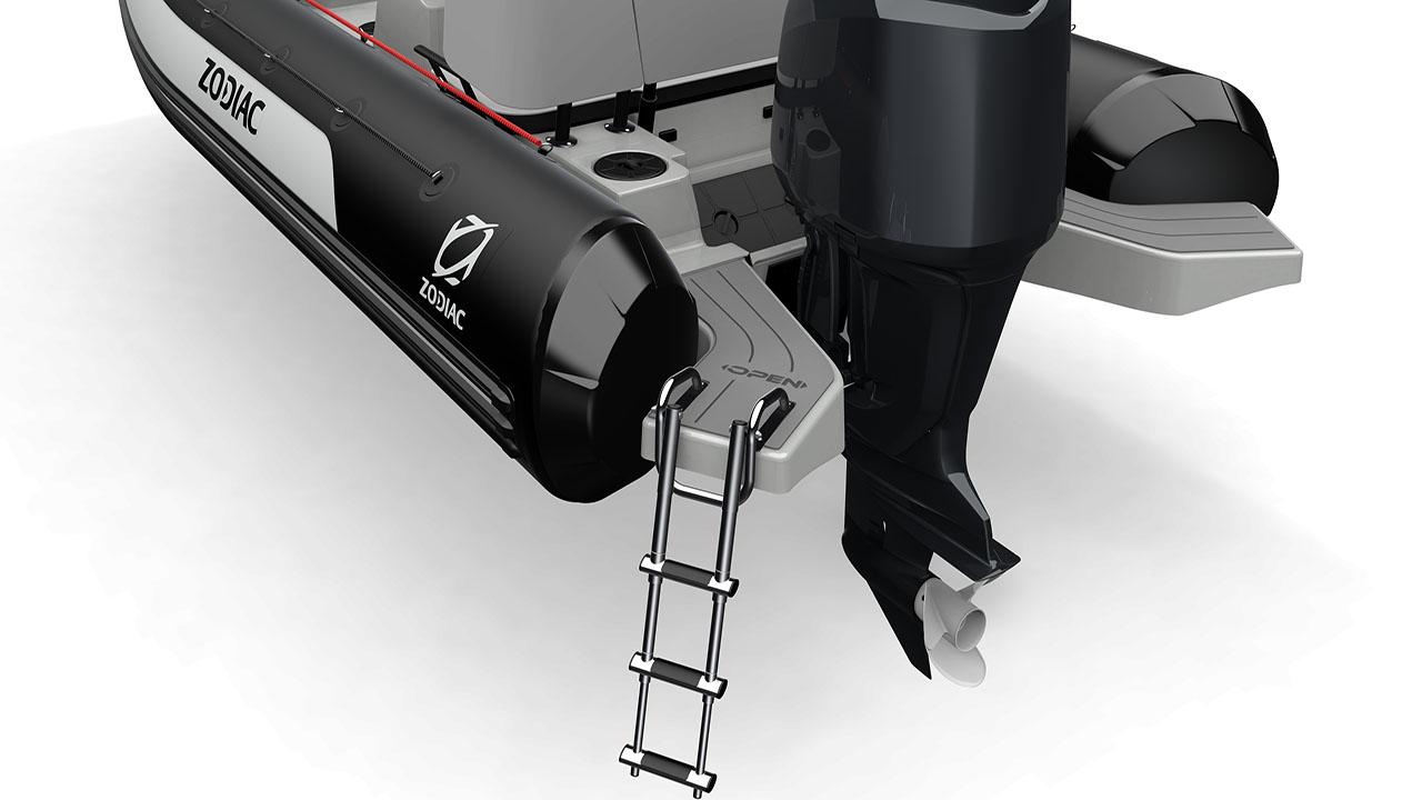 Open 5.5 swim platforms with ladder