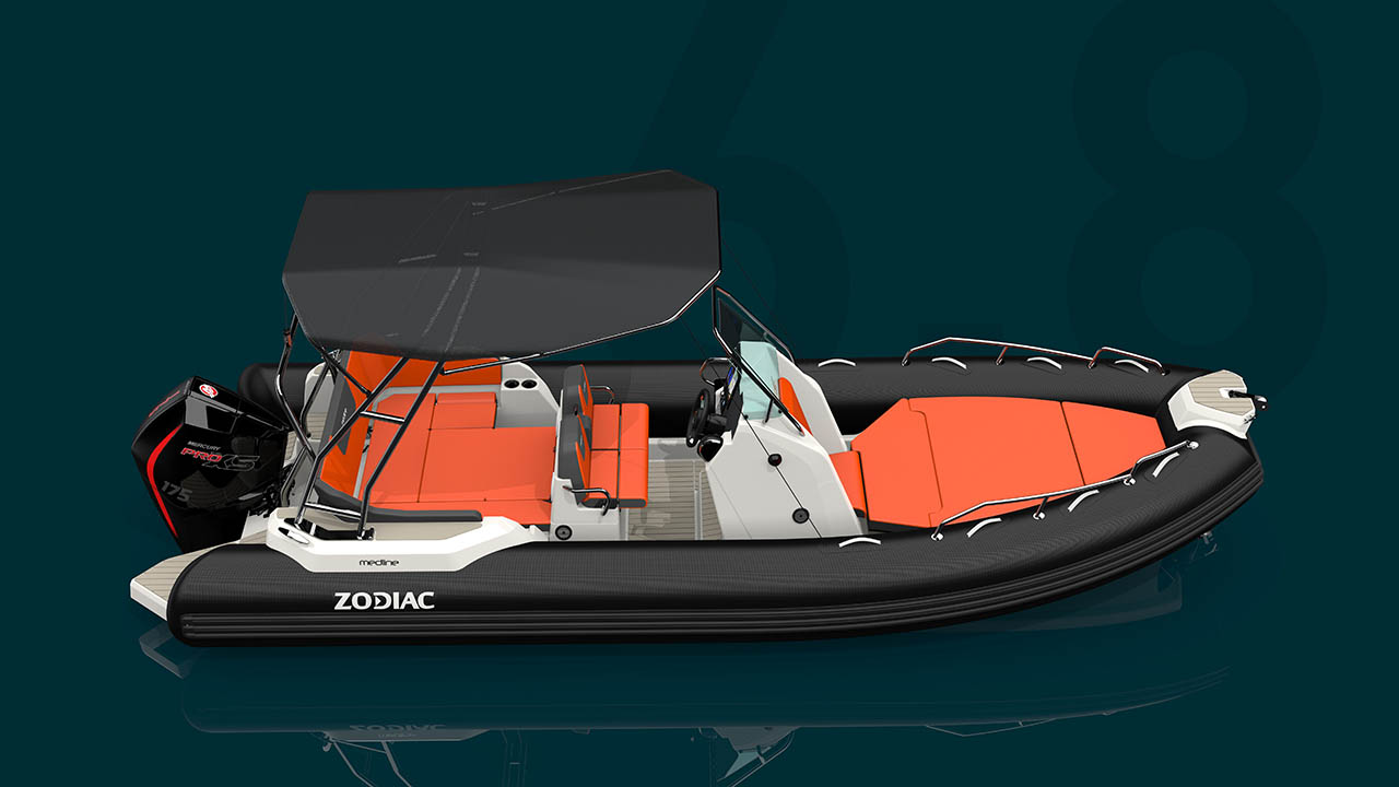 Zodiac_Medline6.8 seen from starboard with sun roof